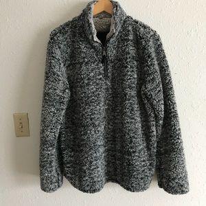 Sweaters - Teddy Bear Gray Fuzzy Oversized Sweater